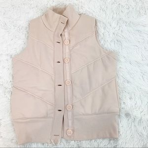 Old Navy knit quilted puffer vest high neck size S